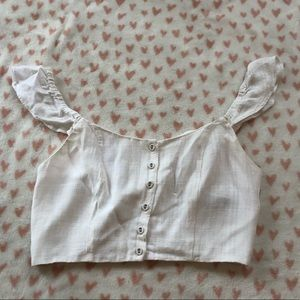 White crop top from forever 21